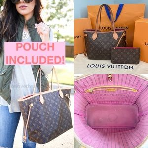 ✨NEVERFULL W/ POUCH✨ Auth MM Louis Vuitton Bag!